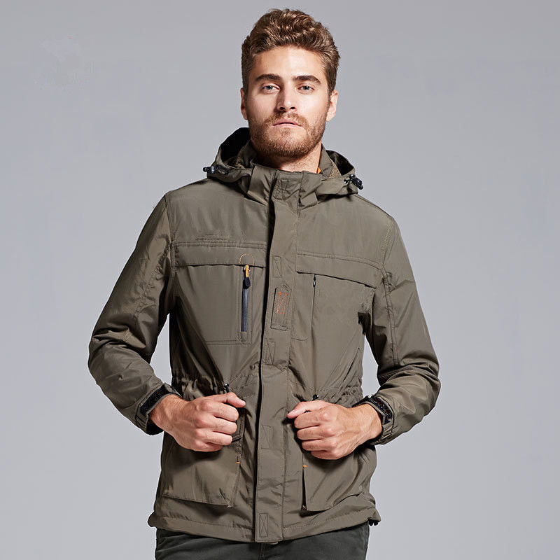 Spring and autumn outdoor sports mens high-quality assault jacket windproof waterproof breathable warm XL code Jackets Free Shi<br><br>Aliexpress