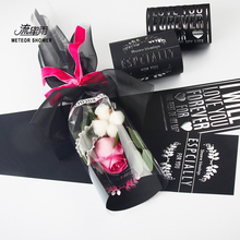 Hot Silver Valentine 's Day Single Rose Pack Bag DIY Set Transparent(China)