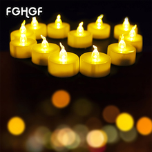 Parties Home Decoration Led Flickering Candle Light With CE&ROHS Grave Electric flameless candles Decoration for Christmas(China)