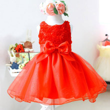 Lovely Pageant Tulle Dress Baby Girls Princess Flower Wedding Party Bow Dresses