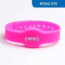 WB04 RFID Wristband for Access Control NFC Bracelet Tag proximity Card ISO 14443A,13.56MHz 504BYTES R/W with NTAG 215 Chip(China)