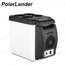 12V 6L Mini Travel home Auto Fridge Car Refrigerator Cooler Warmer 48W ABS  Double Use Portable Freezer
