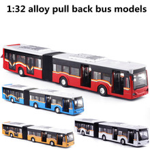 1: 32 alloy pull back bus models,high simulation increase the bus,metal diecasts,toy vehicles,flashing & musical,free shipping(China)