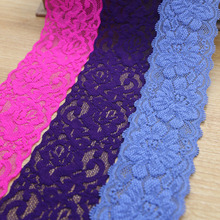 Free shipping 6CM width elastic lace,garment accessories lace trim,DIY embroidery lace wholesale