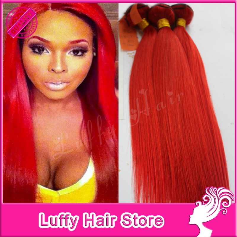 Luffy Wholesale Virgin Peruvian Hair Weave Bundles Silky Straight Red Hair Extensions 100% Human Hair Weft Soft Red Hair Onsale<br><br>Aliexpress