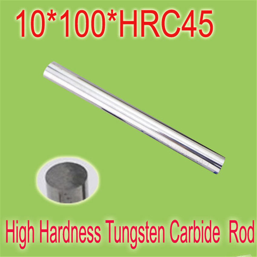 2pcs 10mm * 100mm HRC45  Cylindrical Tungsten Carbide Rod Grindering Raw Material Free Shipping<br><br>Aliexpress