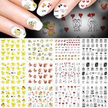 SWEET TREND 12 Designs Cartoon Nail Art Water Transfer Stickers Nail Tips Decals Beauty Manicure Nail Art Tattoos LAA1321-1332(China)