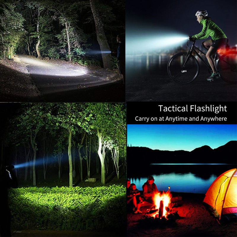 Bicycle - XHP90 LED Flashlight Zoom USB Rechargeable Power Display Powerful Torch 18650 Handheld Light