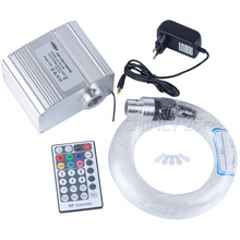 LED Fiber Optic Star Ceiling Lights Kit 200pcs 0.75mm 2M optical fiber+10W RGBW twinkle Light Engine+28Key RF Remote