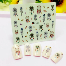 2017 Women Fashion Water Transfer Decals Nail Stickers Foil Polish Wraps Nail DIY Decorations A1268(China)