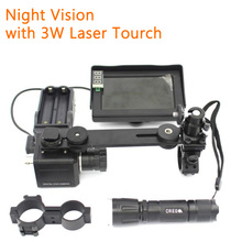 Infrared Digital 1200 Lines Night Vision Sight Riflescope Hunting Goggles Monocular Scope Optics with Laser Flashlight Display