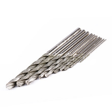 Hot Sale 10Pc/set Size 0.8-4mm Diamond Tipped Drill Bit Set Twist Drill Bits For Glass Tile Stone