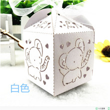 50Pc Handmade Wedding Gifts for Guests Cute Elephant Baby Shower Candy Favor Gift Box Birthday Party Decoration Favors Gift Box(China)
