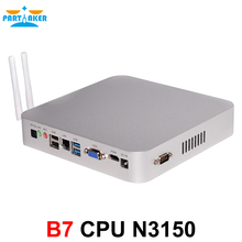 Partaker B7 Fanless Industrial Desktop Computer Mini PCs N3150 Intel Quad Core with 1 RS232 Windows 10 Free 300M WiFi HDMI Cable