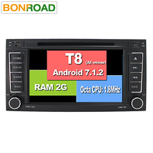 Octa Core T8 Android 7.1.2 Car DVD Multimedia Player for VW TOUAREG T5 MULTIVAN with RDS Radio Bluetooth Ipod Free 8G Card 4G