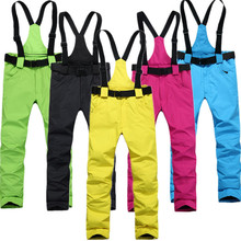 Outdoor sports camping straps ski pants boys winter woman -30 degrees warm wind breathable trousers free shipping(China)