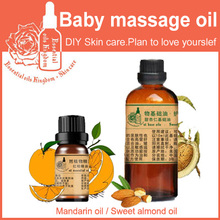 100% pure plant essential oils orange oil mandarin / sweet almond Aid digestion Help gastrointestinal motility Baby massage oil