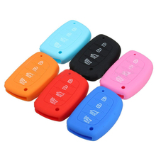 Silicone 4 Button Smart Remote Key Fob Case Protect Cover For Hyundai Elantra(China)