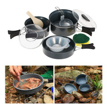 Aluminum Alloy BRS Cookpot Camping Cookware Outdoor Pot Sets Mutifunctional Utensil Camping Pot Sets Cookware BRS-123(China)
