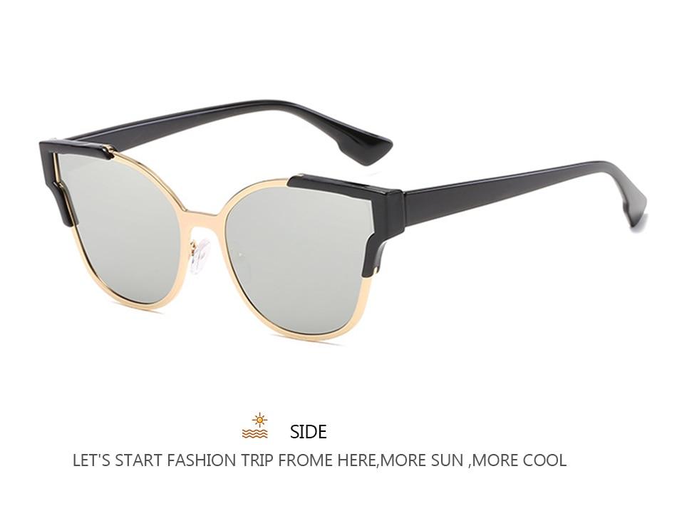 VRCHIC New Sunglasses Women Fashion Classic Glasses Cat Eye Sunglasses Men Mirror Lens Ladies Unisex  UV400