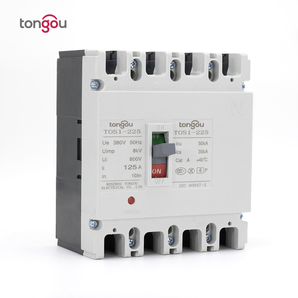125A 4P New Type Mccb Moulded Case Circuit Breaker For Industry<br>