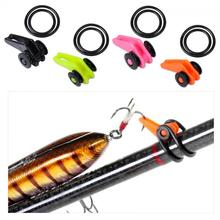 1Set /1Hook Device+2Rubber Rings +1 Large Circle+ Small Circle Hook Secure Keepers Holders Jig Hooks Safe Keeping Fishing Rod