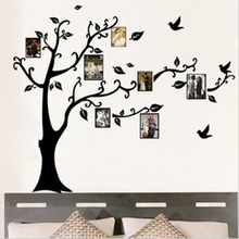 DIY forever family memory tree photo frame wallpaper removable pvc living room home decoration free shipping