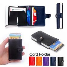 Unisex Fashion Classic Slim Card Wallet Leather Wallet Credit Card Protector Gifts Holder leather P5