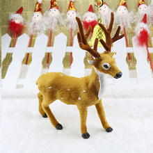 Hot Sale 1pc Xmas Elk Plush Simulation New Year Christmas Decorations Christmas Ornaments for Home Christmas Gift(China)