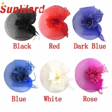 Garment Vintage Veiling Women Party Evening Lace Flower Feather Hats  Headband 17Mar18