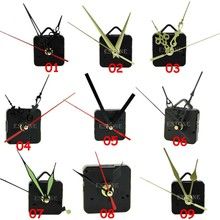 New 14 Styles Black Quartz Clock Movement Mechanism Repair DIY Tool Kit + Black Hands Hot