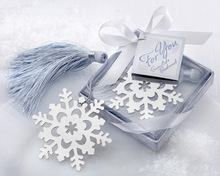 2015 SZS Hot Silver CROSS Snowflake Heart BOOKMARK BABY CHRISTENING GIFT New(China)
