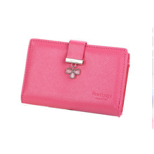 Mediume size of Fashion Lucky clover wallet famous brand designed women wallet HASP closure type women purse card holder