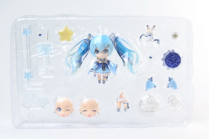 Hatsune Miku Mini Action Figure 110 scale painted figure Snow Miku Twinkle Snow Ver. PVC figure Toy Brinquedos Anime (13)