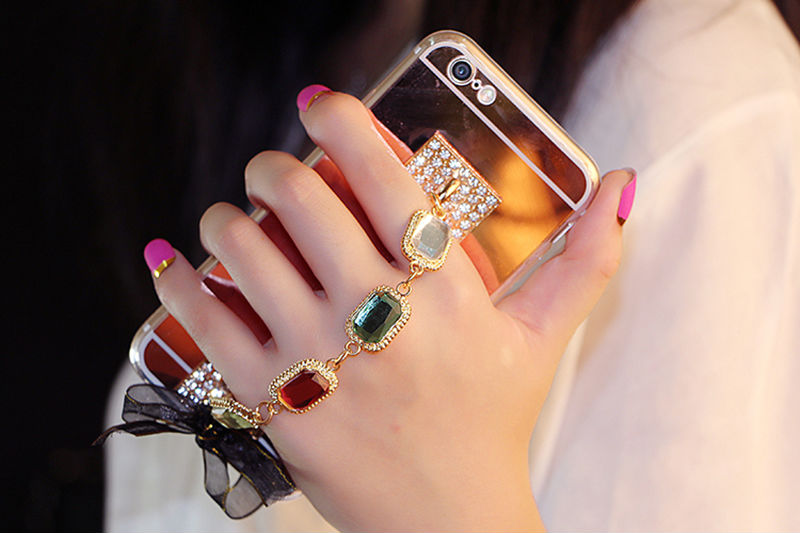 Bling-Crystal-Gold-Color-Diamond-Bracelet-Soft-TPU-Mirror-Case-Phone-Case-Back-Cover-For-SamsungS5 (2)