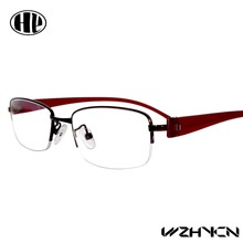 2017 new half-rim women eyewear colorful men personality optical frame super light glasses frame causal design eyeglasses(China)