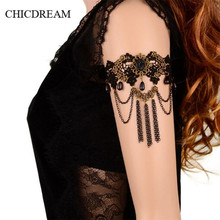 Romantic Women Arm Bracelet Vintage Female Finger Bracelet Beauty Lace Bangles Tassel Gift Ladies Women Jewelry Lover Arm Band