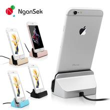 NganSek Dock For iPhone 8 5 5S SE 6 7 6s Plus 7Plus Sync Data Charging Dock Station Desktop Docking Charger USB Cable