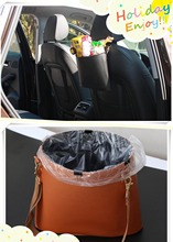 Car-Styling leather trash cans garbage bags FOR skoda fabia octavia a5 a7 honda civic 2006-2011 fit suzuki grand vitara mercedes(China)