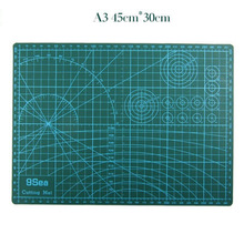 A3 Cutting Mat 45*30cm Manual DIY Tool Cutting Board Double-sided Available Self-healing Cutting Pad(China)