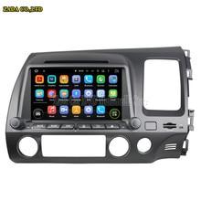 8 дюймов автомобиля dvd quad core android 5.1 автомобилей радио gps для honda civic (правый) 2006-2011 bluetooth стерео поддержка зеркало ссылка 16 ГБ