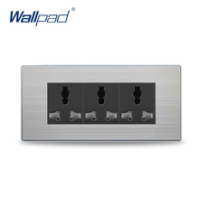 9 Pin Universal Socket 2017 Hot Sale China Manufacturer Wallpad Push Button Luxury Wall Light Switch Outlet(China)