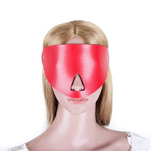Buy Sex Blindfold Mask S&M PU Leather Bondage Restraints Erotic Toys Cosplay Eye Mask Woman Fetish Slave Sex Game Adult Product