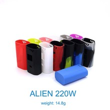 High quality protective silicone skin cover for smok alien 220w box mod silicon case 13 colors