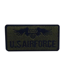 Hot sale embroidery military iron on patch for clothes deal with it stick u.s.airforce patches for clothing Diy badge