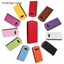 TUKE 11 Colors Luxury Flip Genuine Leather Case for Samsung Galaxy Ace 4 / G313 / G313H with Hard Shell Cell Phone  Cover SJ0670