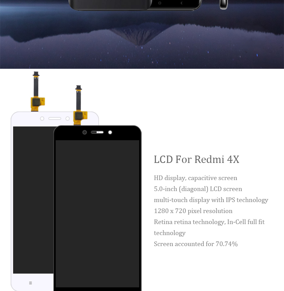 HORUG 100% AAAA Original LCD For Xiaomi Redmi 4X Screen LCD Replacement Display Touch Redmi 4X Screen Kits Quality Screen LCDS (8)