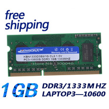 laptop 1333MHZ Cheap computer parts original chips best ram ddr3 1gb laptop Free shipping