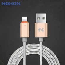 NOHON 8Pin USB Cable Fast Charger Cable For iPhone 8 7 6 6S Plus iPad 4 Air 2 iOS 7 8 9 LED Light USB Data Charger Cable Wire(China)