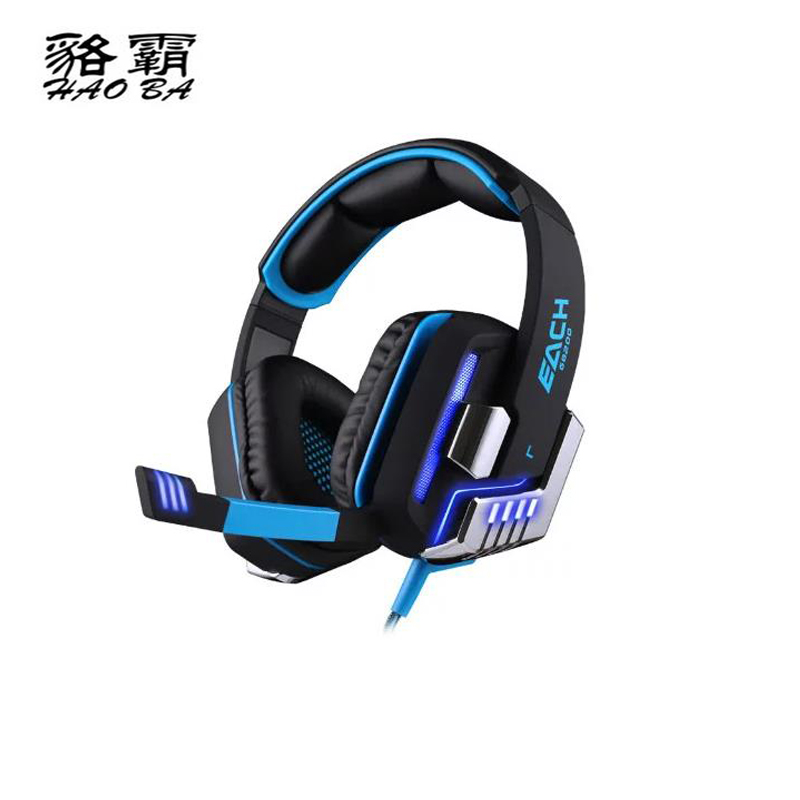 HAOBA G8200 Glowing vibration USB 7.1 Wearing style Internet cafe headphones Multi-channel with microphone Comfortable headset<br>